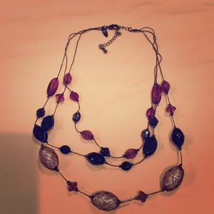 Beautiful black purple necklace from NY and Co